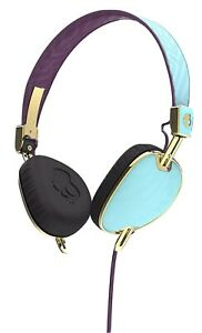 Skullcandy Knockout Headphones Microphone Purplre/gold New Sealed Box