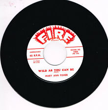 MARY ANN FISHER - WILD AS YOU CAN BE / PUT ON MY SHOES (Rhythm & Blues - Popcorn