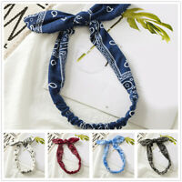 1PC Leopard Rabbit Ears Pattern Hair Bands Bow Ponytail Hair Accessory Hair Ring