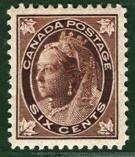 CANADA Dominion QV Stamp SG.147 6c Brown (1897) Mint MM Cat £60+ BLBLUE160