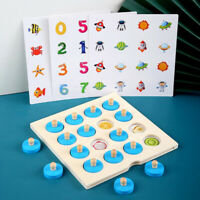 Memory Match Chess Game 3D Wooden Puzzle Board Logic Toy Early Learning