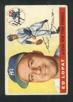 1955 Topps #109 Ed Lopat VG/VGEX Yankees 85942