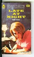 LATE AT NIGHT by Merry Woods, rare US Midwood sleaze gga pulp vintage pb