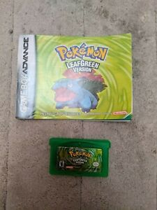 Wireless Adapter and Pokemon: Leaf Green GBA - authentic, with manual