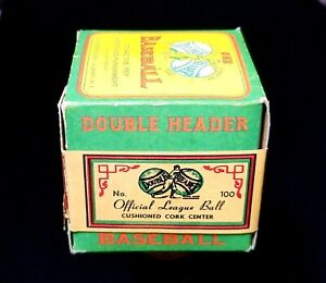 1935-54 Early Type Vintage J. de Be*r Double Header Baseball Unopened in Box