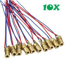 10pcs 650nm 6mm 5V 5mW Red Laser Dot Diode Module US