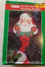 JoyBrite Vintage Santa  Porcelain Stocking Hanger, New in box