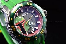 Invicta Mens 48mm Scuba Star Wars Limited Edition Green BOBA Fett Quartz Watch