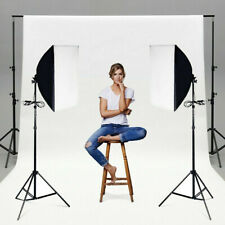 2x Photography Softbox Lighting Stand Photo Equipment Soft Box Studio Light Kit