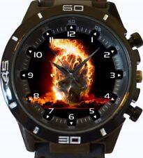 Reloj Pulsera Skull Bola De Fuego Nuevo Deportivo GT Series rápido de Reino Unido Vendedor