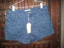 Animal Print Cotton Blend Shorts for Women