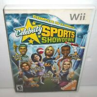 Celebrity Sports Showdown (Nintendo Wii, 2008) Complete Stained Cover Art Tested