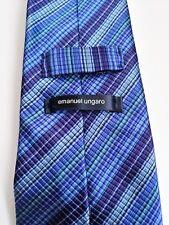 Emanuel Ungaro Multi Coloured Repp Style Striped Silk Tie
