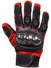 Gants de moto court Cuir Textile Motard bleu, rouge blanc noir M à XXL