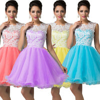 Short Wedding Evening Party Formal Ball Gown Mini Prom Bridesmaid Cocktail Dress