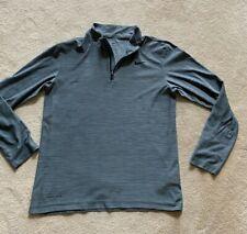 Nike Dri-Fit Mens 1/4 Zip Athletic Gray Long Sleeve Shirt Sz S A+Wow!