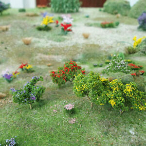 Free Shipping 60 Flower Trees HO Scale 3/4 to 1 inch Tall # 70003