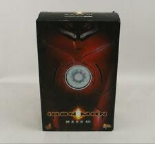 "Hot Toys Iron Man Mark III 12"" 1/6 Scale Masterpiece Figure MMS75 2008 MIB"