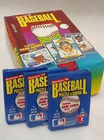 1986 Donruss Baseball Unopened Wax Pack Lot of 3 packs MINT FROM FRESH BOX!!!!