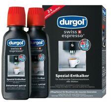 New Genuine DURGOL SWISS ESPRESSO COFFEE DESCALER 2 X 125ML