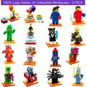 Lego Series 18 Collectible Minifigures 71021 Dragon Elephant Clown Cactus NEW