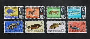 BRITISH HONDURAS - SCARCE EARLY TWO DIFF P/SETS ANIMALS & FISHES UNUSED MH LOT R