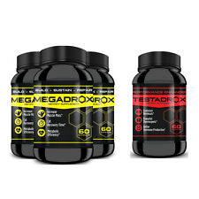 MEGADROX x3 & TESTADROX x1 - Great Workouts,Cut Recovery Times, Enhance Energy!!