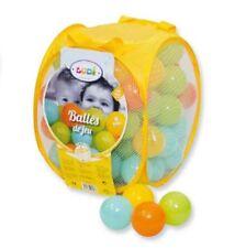 Sac de 75 balles multicolores diamètre 6cm, A1104288