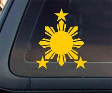Philippine Flag Sun YELLOW Car Decal / Stickers