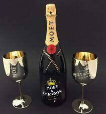 Moet Chandon Flashing Light LED Champagner 1,5l Flasche 12% Vol + 2 Gold Becher
