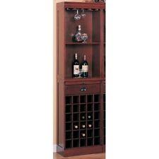 Coaster 3080-1 - Lambert Traditional Wine Wall Bar Unit