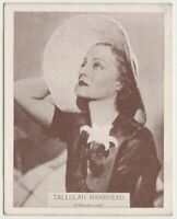 Tallulah Bankhead 1934 Wills Famous Film Stars Tobacco Card #20 - Medium