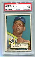 1952 Topps Mickey Mantle #311 PSA 3.5 VG+ RC Rookie (Centered Vibrant Colors)