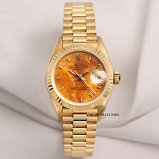 Rolex Lady DateJust 69178 Rare Wood dial 18K Yellow Gold