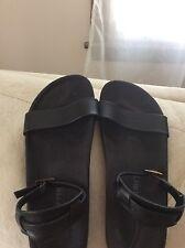 Black Birkenstock Leather Ankle Strap Sandal Size 38