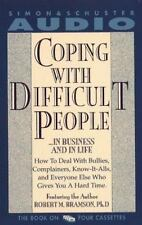 Coping with Difficult People Cassette Audiobook Robert Bramson Ph.D 4 tape set