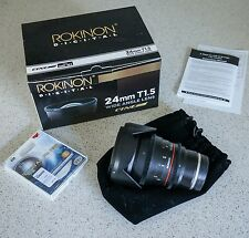 Rokinon 24mm T1.5 Wide Angle Cine Lens for Sony E-Mount with UV Filter