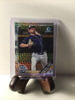 2019 Bowman Chrome Mojo Refractor Adrian Morejon San Diego Padres Card