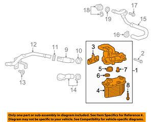 Cadillac GM OEM 16-18 CT6 3.0L-V6-Oil Cooler Assembly 12681934