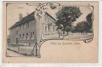 Ansichtskarte Gruss aus Ducherow/Pommern - Schule/Lindenstrasse um 1900 RARE !!