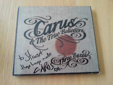 SIGNED Autographed CARUS and The True Believers Three Boxes Folk Music CD Album