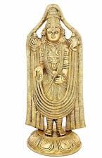 Brass Tirupati Standing Statue Balaji Religious Hindu Divine Figur South India