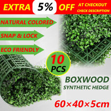 10 Pcs Artificial Grass Boxwood Hedge Fake Vertical Garden Green Wall Ivy Fence
