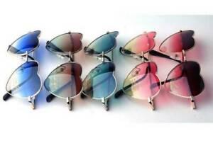 Herz Geformt Sonnenbrille Jahrgang Mode Lolita Metall Rahmen Damen Designer