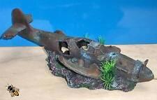 Avion de chasse Avion Crash épave aquarium Ornament Fish Tank Décoration Nouveau