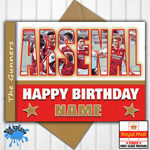 Arsenal Personalised Birthday Card Any Name/Relative/Age 21st 30th 40th 50th