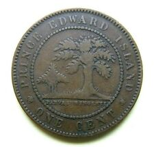 1871   1 Large Cent Prince Edward Island, Queen Victoria, Nice Grade