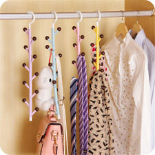 Ties Clothes Hanger Closet Rotating Bag Key Holder Belts Scarf Hat Space Saver H