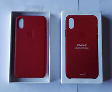 Unused OEM PRODUCT RED Apple Leather Case for iPhone X in Retail Pkg - MQTE2ZM/A