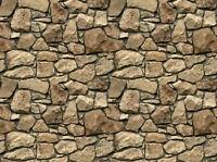 !  6 SHEETS EMBOSSED BUMPY BRICK stone wall 21x29cm SCALE 1/12 CODE Gnn55R!